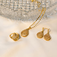 Mellifluent Pendant Necklace & Earrings with a Ring (Code 010)