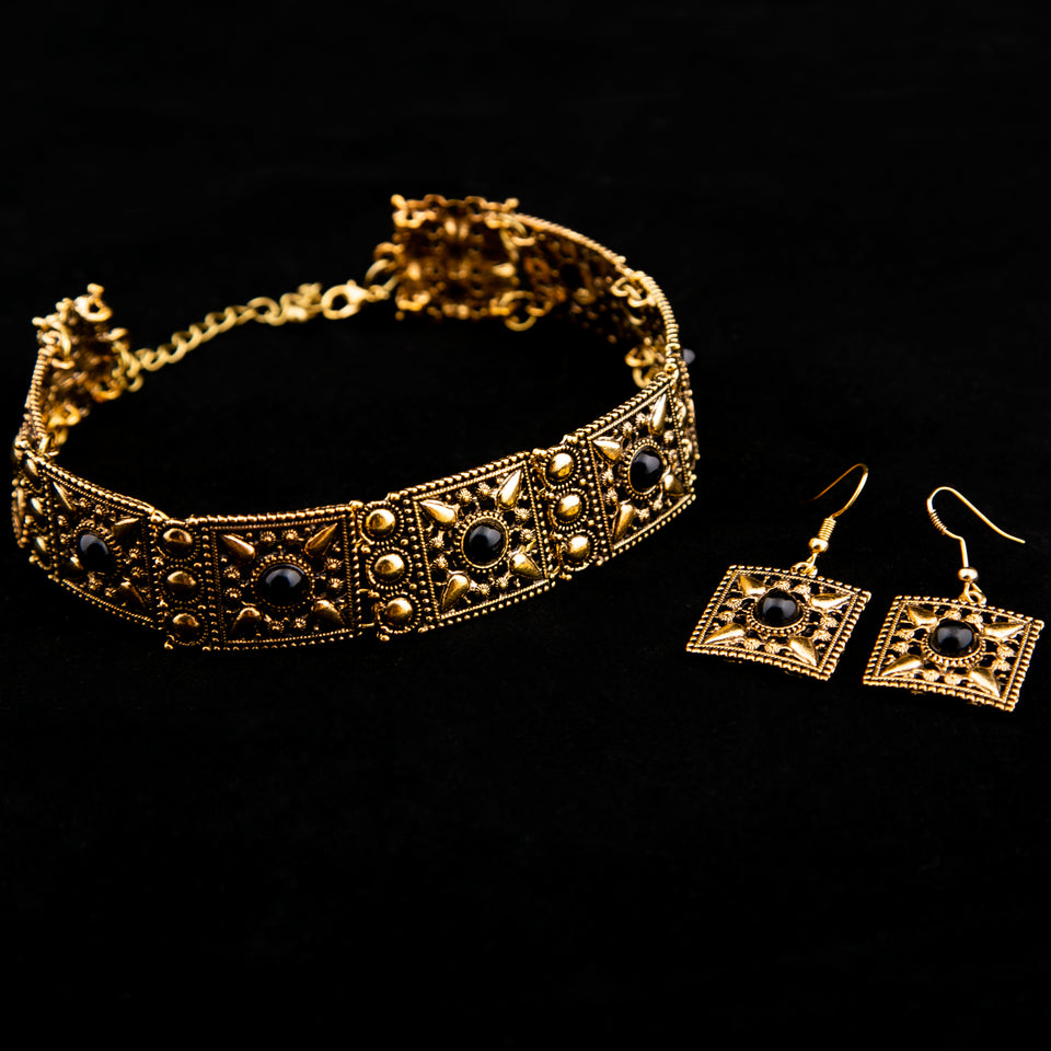 Antique Bronze Necklace & Earrings Sets