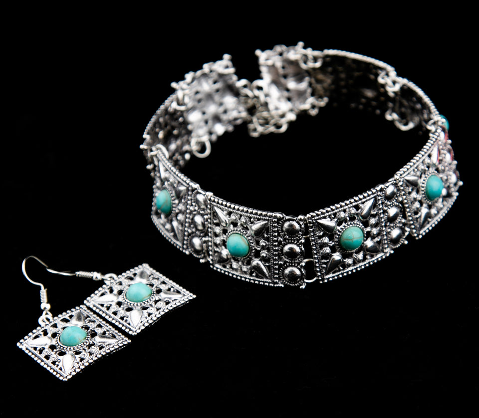 Antique Silver Necklace & Earrings Sets