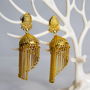 Traditional Antique Golden Jhumkay (Code 0103)