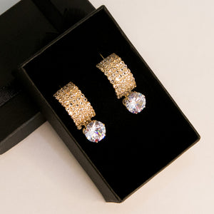 Glossy Stones Earrings (Code 0127)
