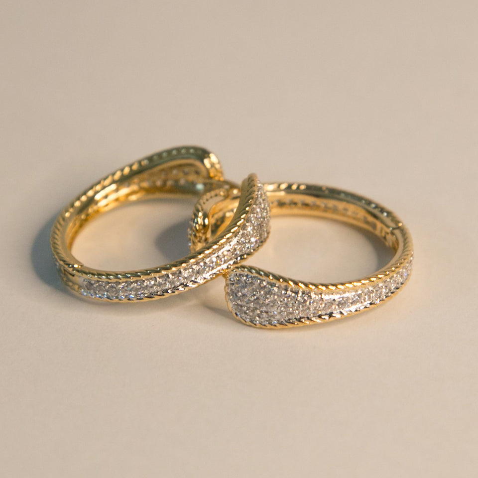 Twin Track Premium Hoop Earrings (Code 0138)