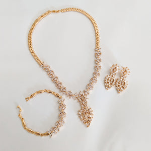 Bauble Formal Set of Earrings, Necklace and Bracelet (Code 0145)