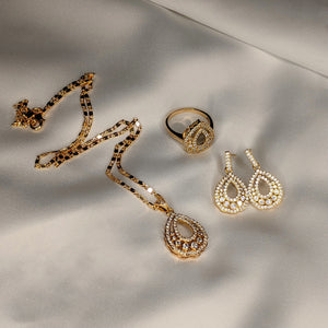 Blooming Beauty Set of Earrings, Necklace and Ring (Code 0146)