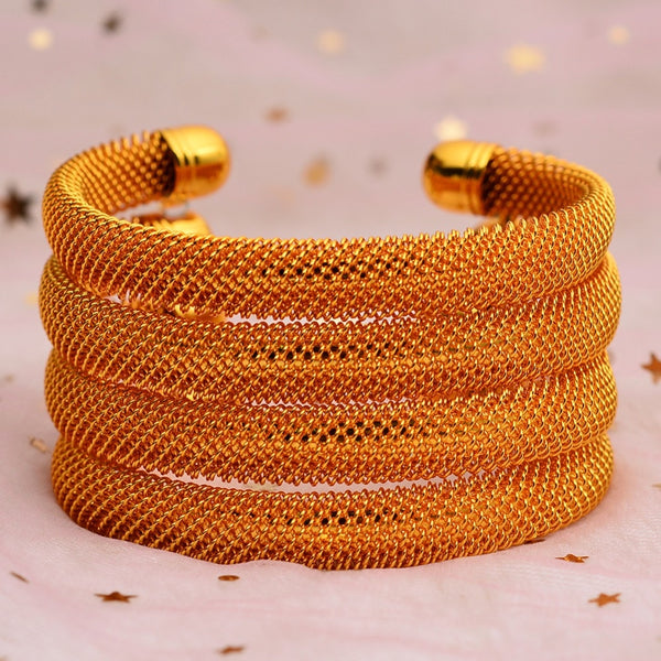 4 PCS BRACCIALETTI COLOR ORO PER LE DONNE 👇MYALLESHOP