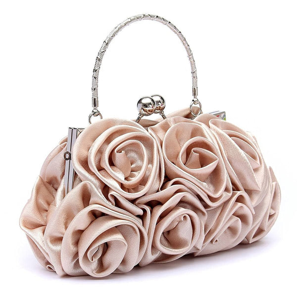 Borsa da donna in raso 5 colori floreali 👜myalleshop