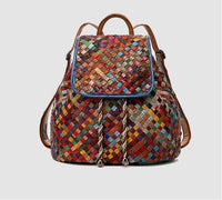 Zainetto donna vera pelle 100% multicolore casual bagpack pack👜myalleshop