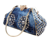 Borsa a spalla jeans denim ìstrass decorativi hasp 👜myalleshop