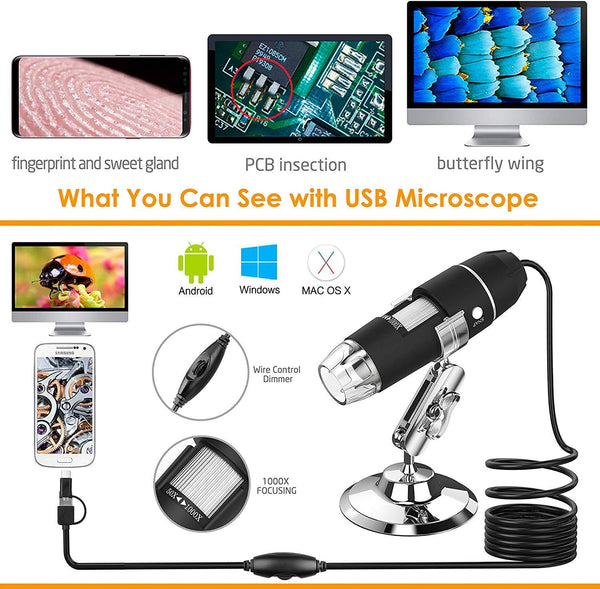 Fotocamera microscopio magic zoom 1080p 🔥🔥myalleshop