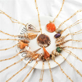 20 Styles seashell pendants Initial  multi 2 layer shells choker necklaces for women🔥myalleshop