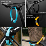 Bicycle 4 digits universal password lock anti-theft bicycle vehicle security