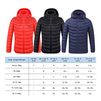 Thermal jackets with hood, thermal External USB vest Long sleeves electric