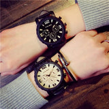 Man and woman sport leather simple elegant waterproof watch business wristwatch ⌚myalleshop