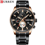 Watch men top lux gold sport waterproof quartz watches chronograph date male clock⌚  myalleshop