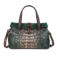 100% genuine leather bags alligator design with shoulder strap with handle 👜🌞myalleshop