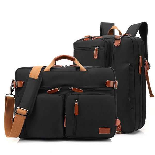 17 Inch Convertible Briefcase Men Business Handbag  Bag  Laptop Multifunctional Travel Bags For
