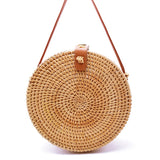 Vietnam Hand Woven Bag Round Rattan Straw Bags Bohemia Style Beach Circle Bag 2019 Popular LB965