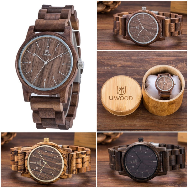 Wooden strap wristwatch quartz ⌚  myalleahop