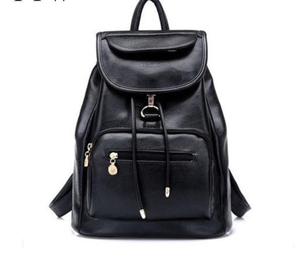 Korean version casual travel PU leather backpack 🔥myalleshop