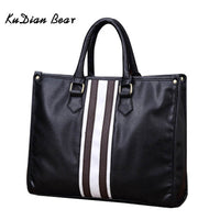 KUDIAN BEAR Brand Men Briefcase PU Leather Men Bags Business Brand Male Briefcases Zipper Office Handbags BIG011 PM49