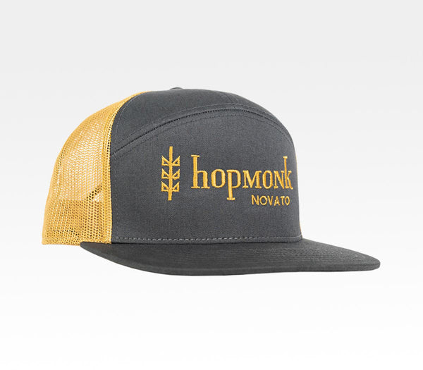 HopMonk Tavern Beer Food Music Camper Trucker Flatbill Hat Local Novato Sebastopol Sonoma County Northern California Merchandise Travel Agent Apparel