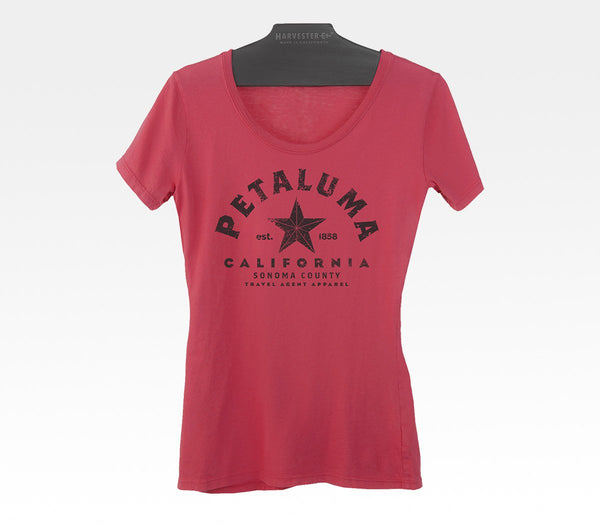 Petaluma California Local Tshirt Made in USA clothing Sonoma County Norcal Travel Agent Apparel Harvester Co