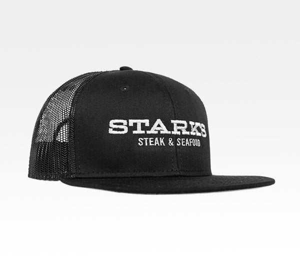 Starks Steakhouse Seafood Restaurant Snapback Trucker Hat Local Santa Rosa Northern California Merchandise Travel Agent Apparel