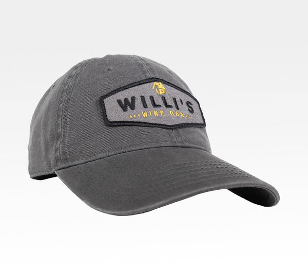Willis Wine Bar Baseball Dad Hat Santa Rosa Local Northern California Merchandise Travel Agent Apparel