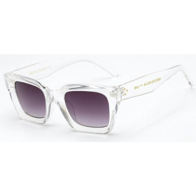 BELLA MINI Square Fashion Sunglasses - Clear-Grey - Fashion Sunglasses