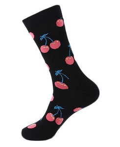 Men Fashion Socks - Accessories - CHERRY Fun Men's Crew Socks
