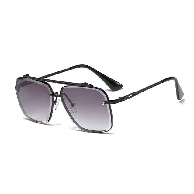 SAFARI Aviator Sunglasses - Black Gray - Fashion Sunglasses