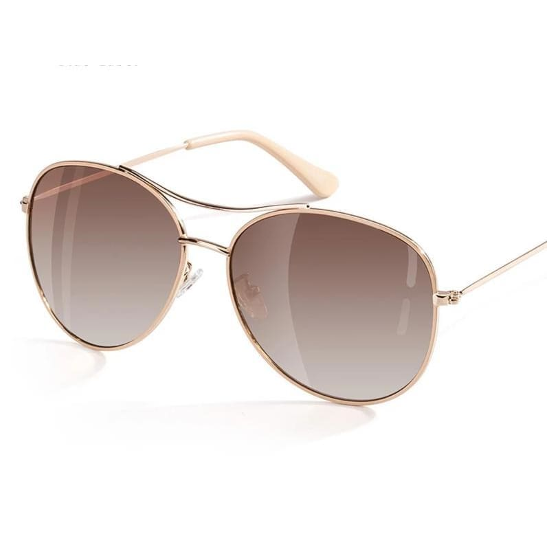 STARLET Polarized Aviator Sunglasses - Gold/Brown - Fashion Sunglasses