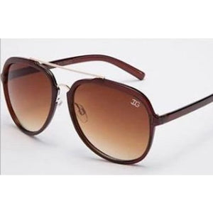 Vivid IG Aviator Fashion Sunglasses - Dark Brown Frame / United States - Women - Accessories - Sunglasses