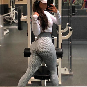 Vivid Seamless Patchwork Fitness Leggings - Women Workout Leggings