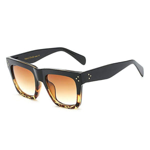 Women Sunglasses - BELLA Square Fashion Sunglasses Acetate Frame