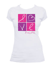 Load image into Gallery viewer, Breast Cancer LOVE T-shirt