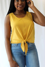 Load image into Gallery viewer, Yellow Tie Knit Tank