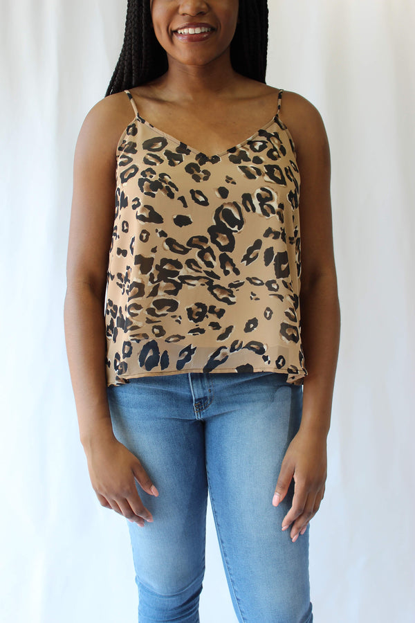 Animal Print Cami Top