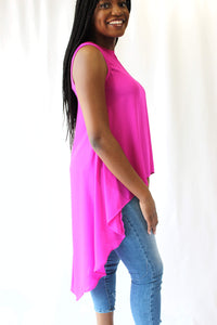 Neon Berry Long Tank Blouse