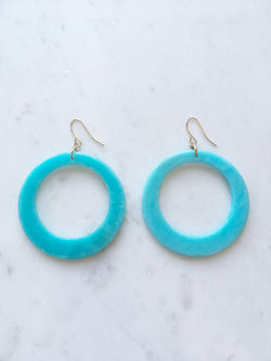 Funky Turquoise Hoops