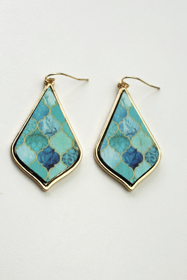 Classic Turquoise Drop Earrings