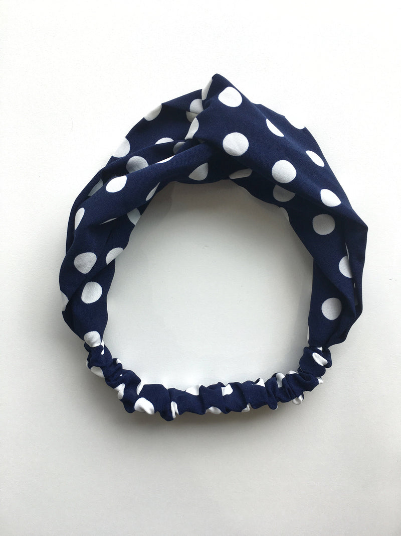 Polka Dot Fabric Headband