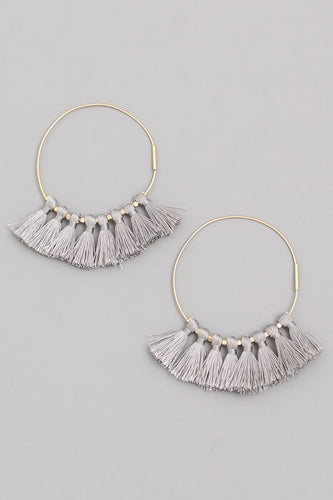 Tassel Detail Hoops | Click for Color Options