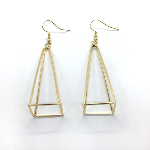3D Prism Earrings