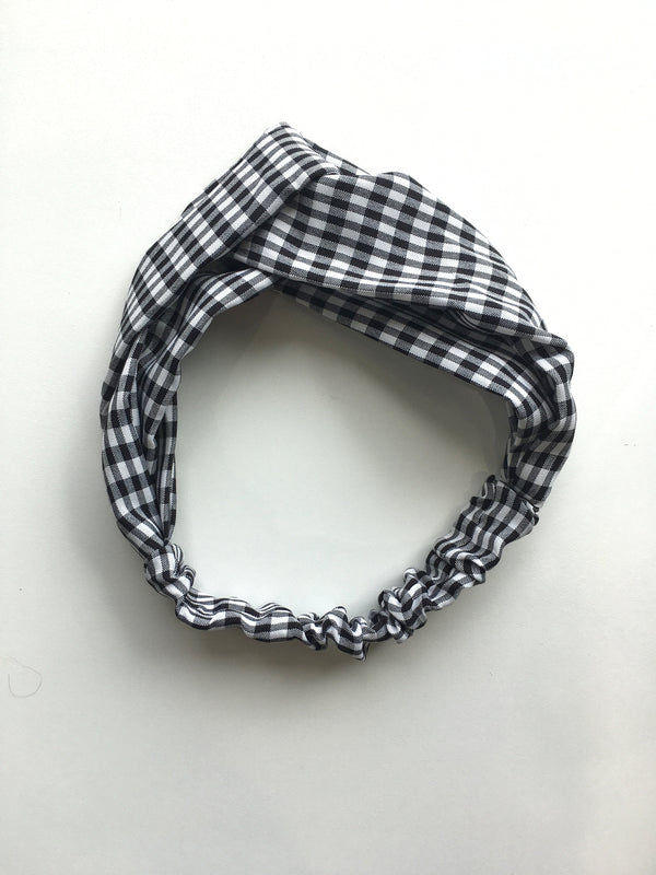Checkered Fabric Headband