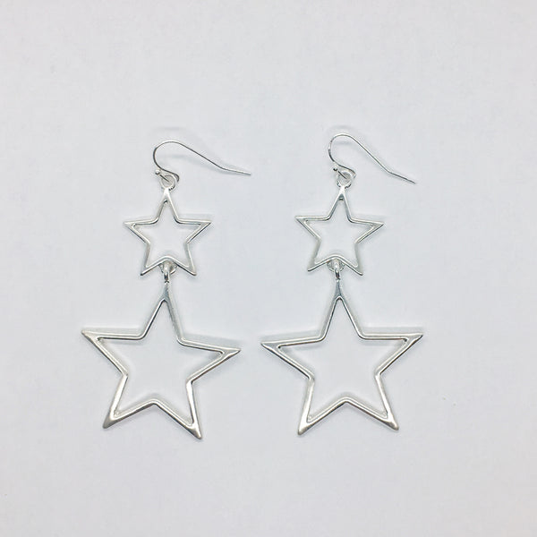 Tiered Star Earrings