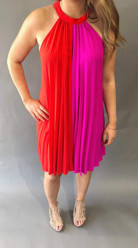 Magenta Shift Dress