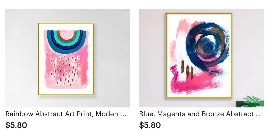 Abstract Art in Pink Colors