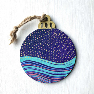 Hand-Painted Christmas Ornament XII
