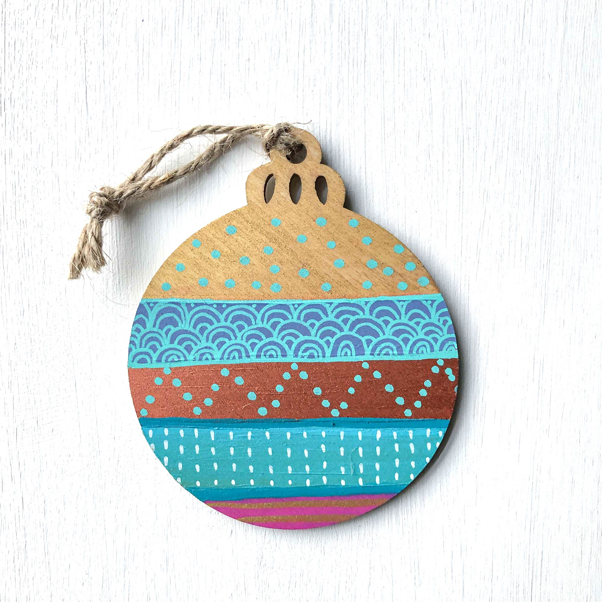 Hand-Painted Christmas Ornament XVII